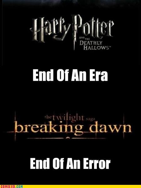 The Difference. .. i am currently reading the books again for the 4th time, because harry potter will never end, it's the kind of thing you will read/watch over and over again.