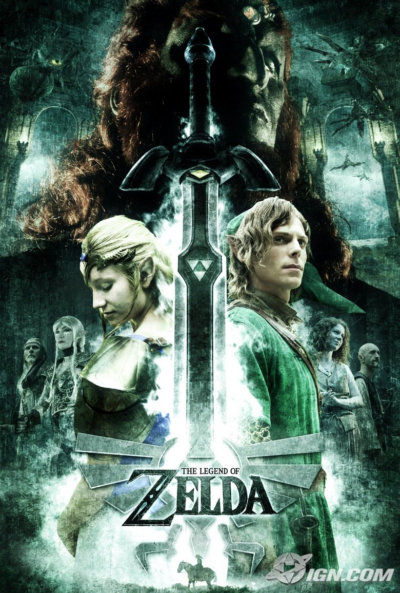 The Legend of Zelda Promo. Link was born animated, and will die animated... anyone notice that the sword hilt looks like a penis? just wondering?