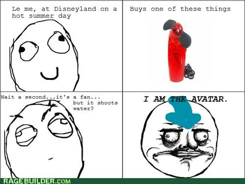 The Avatar. First comic! I know, it probably sucks.. Le me, at Disneyland an a Buys nne of these things hut sumer day hat it shoots Hater?