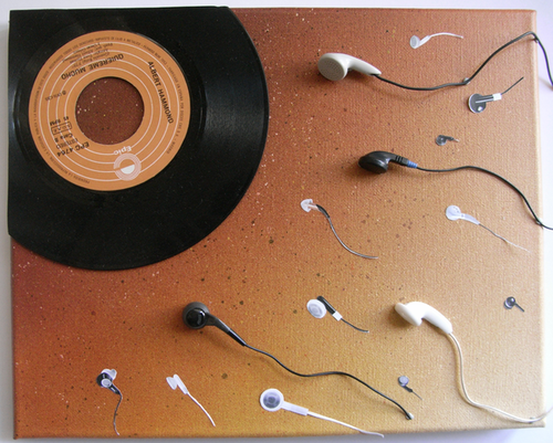The birth of music. .. Mommy? Why does no one love me? Because you were made by apple.