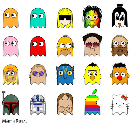 The lesser Known Pac Man Ghosts. Please thumb this if you like it.. MARTIN '. I'm in .