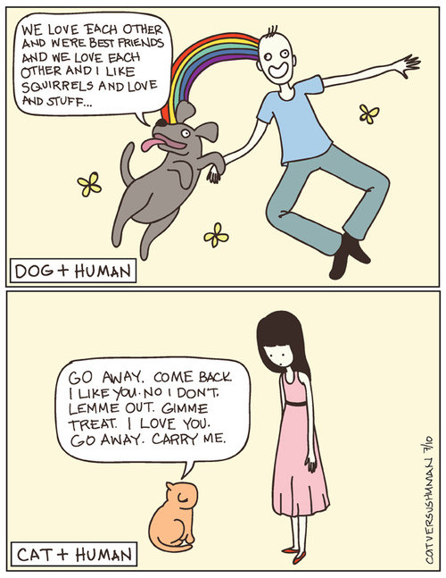 """The difference between cats and dogs. Sorry if its a re-post. INE LIME """"EHEH """" -""""HEP: aban we we am tiities"""" Riel's AND STUFF... GO MPH. COME Ema; Lemma GUT mam"""