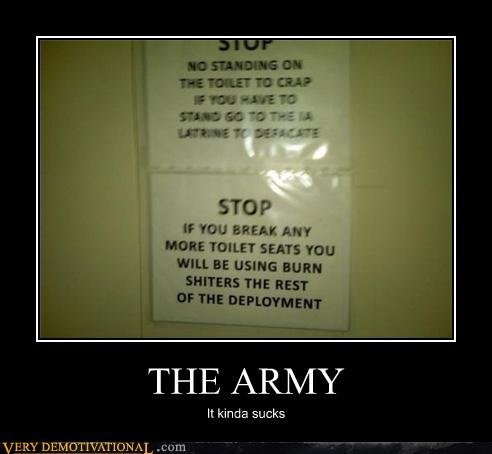 The Army. OC. STD P It mu SHEA: Marv Hun: TIDIEST sears mu win. as mun; may we new THE ARMY It kinda sucks