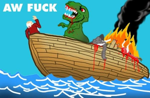 The Ark. lol . AW FUCK '/rrai, A. Look the oil spill!!