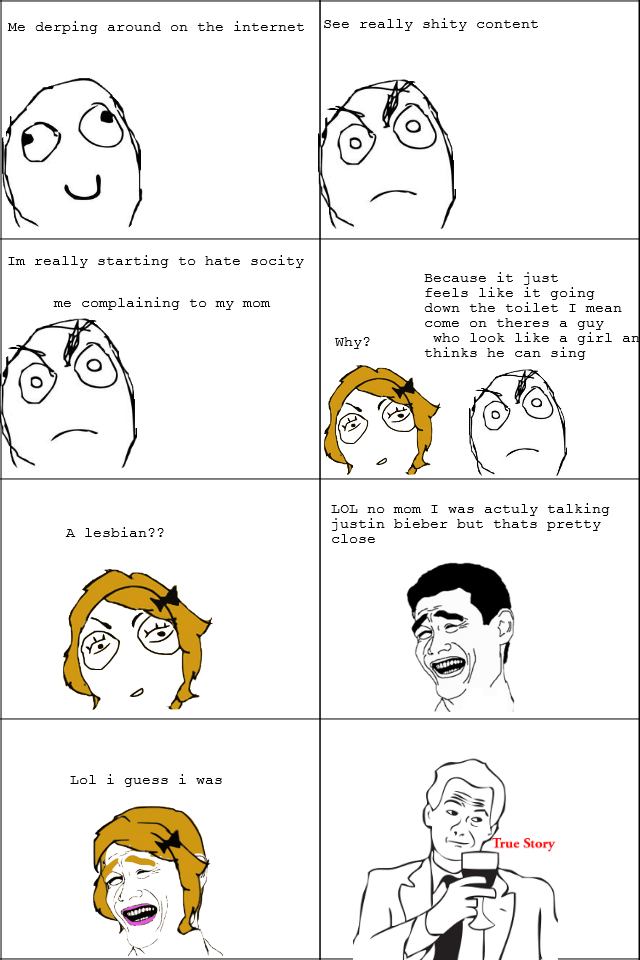 The average convo with my mom. This is my first comic soo yeah. Me derping around en the internet ? shit) Tm really starting hate sleety Because it just feels l