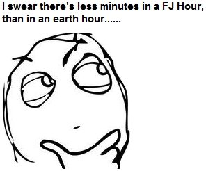 The Truth. You all know it. I swear there' s less minutes in a Hour,. i swear it was five minutes ago that i said im going to start studying for the exam... its now an hour later