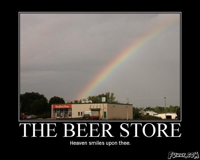 The Beer Store. . THE BEER STORE Heaven smiles upon thee. n, asad. sounds about right