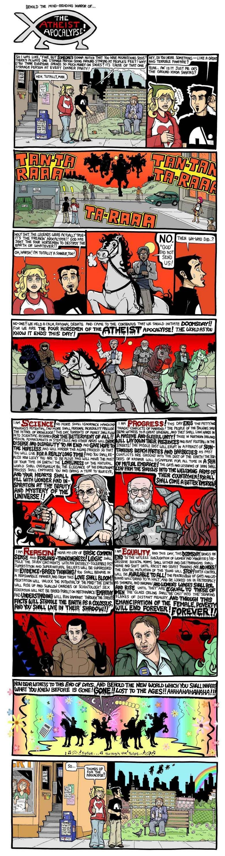 The Atheist Apocalypse. probably a repost. oh well, i lol'd.. oh god so much text