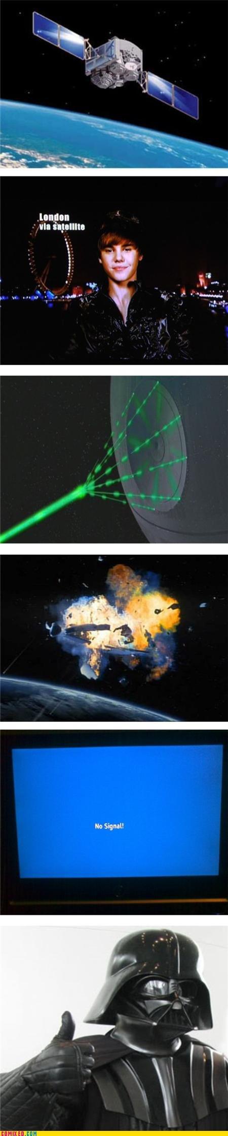 The dark side will fix it. . tnngnn ill no Signal!. thank you Mr. Vader