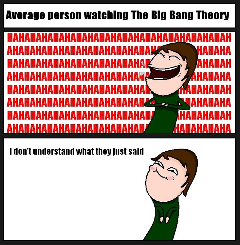 The Big Bang Theory.  Something I've noticed while watching the show with people. Hermie nelson watching The Ilia Balm Thee!!! e AVIATIA IMAM I digit' t wha