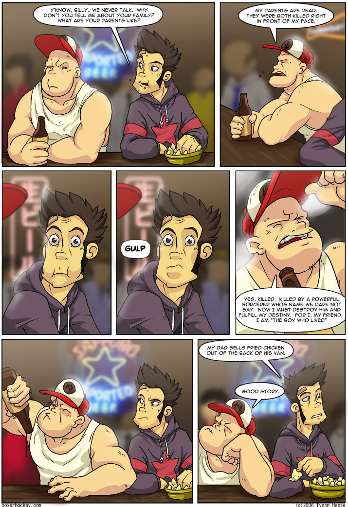 The boy who lived. Not mine, got it from boxerhockey.com the comics there are good.. we HERE? TALK. Cial New ct. -' nae menu». Mo'. GAGE NUT HM 'DAD ADELLE - SH