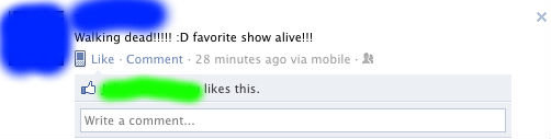"""The irony. . nib """"likes this., Write a comment-... ...but shows aren't alive."""