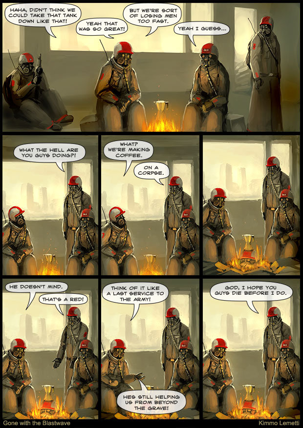 """The Latest GoneWithTheBlastwave Comic. I know it's not much but it's the newest bit. aea"""" FIE THINK WE BUT WE' RE COULD TAKE THAT TANK -DI: .' T; I Wah hrri' ai"""