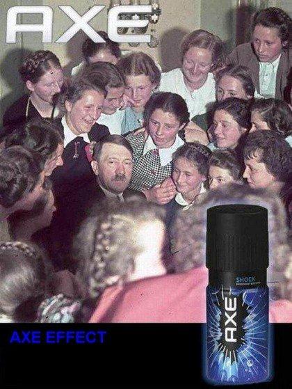 The Axe Effect. .. das gas smells gut!