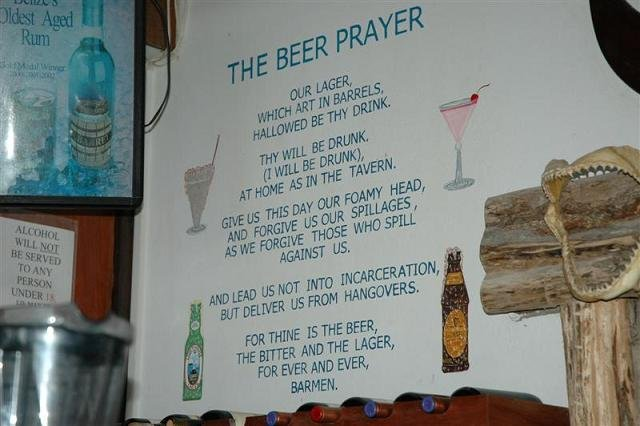 The Beer Prayer. .. for some strange reason i read that in a wiscansin acsient
