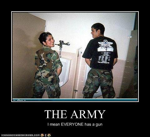 THE ARMY. . THE ARMY Imam has a gun. I wouldnt