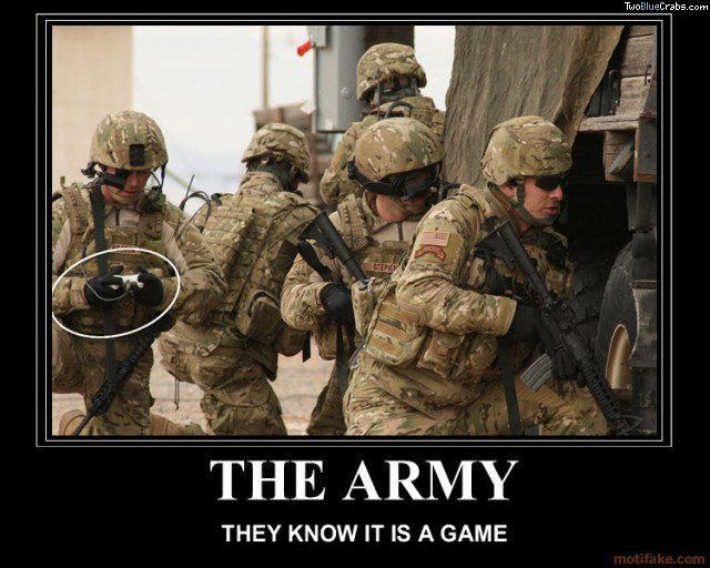 The Army. They know how it works...<br /> Up or down<br /> you chose. THEY KNOW IT IS A GAME. these are called DCU's...which are no longer worn, but the closest thing we had to the marine look you see in the pic. again I say....THOSE ARE MARINES NOOB!