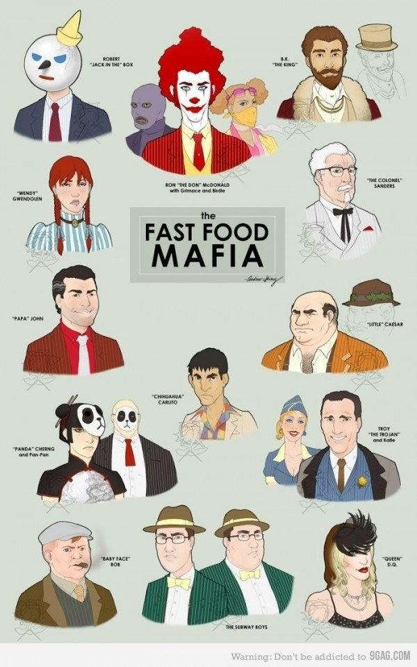 The mob fast food style. .