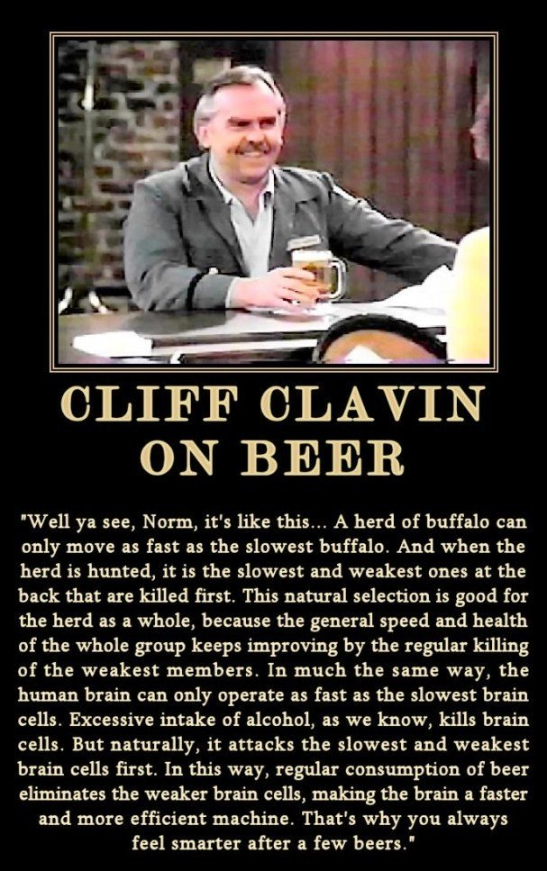The Buffalo Theory on Drinking. The Buffalo Theory on Drinking from cheers....please thumb .