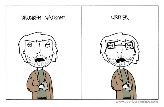 The difference. . DRANKEN WRITER