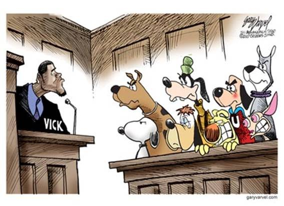 the jury of michael vick. this asshole is gonna get it now.. You dont know? Today he is a football player, but he was caught hosting dogfight arenas. people hate his guts to this day but he plays football really well. Ano