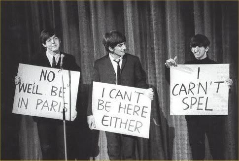 The Beatles. oh Beatles you so funny.