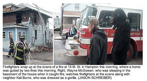 The best caption EVER. Thanks for your views!. Firefighters wrap was gutted by we irtb' d this Right. Way Kai , when was sleeping in the basement in the house w