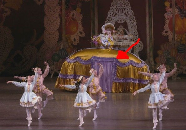 the big dressed pedo lady ( read descrip. anyone else think its weird that she had children underneath her dress? <br /> possible idea for pedo bear?.. Actually This is from the nutcracker This is mother gigion or something like that... It has a naughty child that bends at the hips and not the knees like the ot