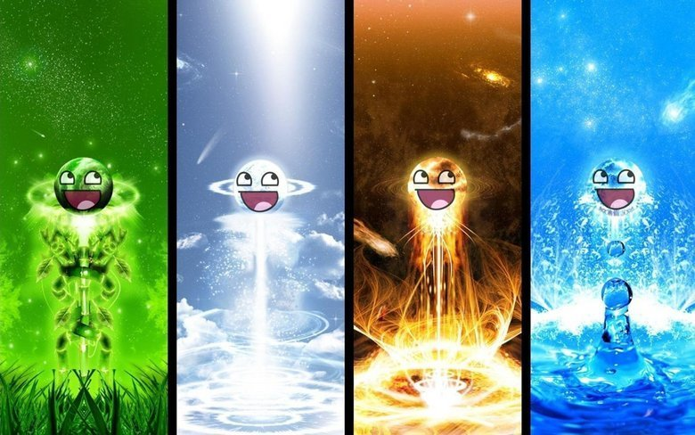 The elements of the happy face. .. is it just me or does the 4th pic look kinda awkward?