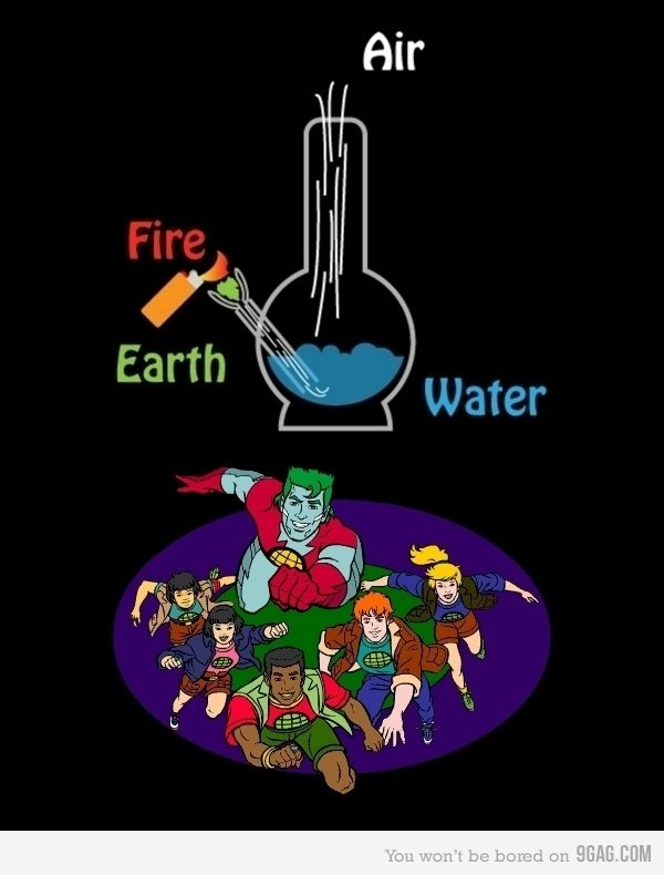 The Elements ; ). ;). Air. weed counts as earth?