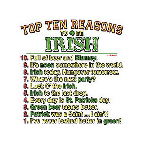 the irish. . l dag 'titian. Funny but blurry, maybe post a better quality pic, you getta thumb.