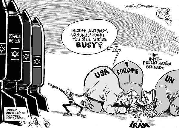 The Truth. The truth, and it's funny too. For those who don't get it it's about the U.S, Europe and the UN being so focused on Iran's 'weapons of mass destructi