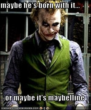 the joker's secret. first upload.. i read it in the commercial annoncer's voice