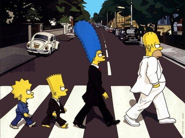the beatles. .. Homer Lennon Marge Starr Bart McCartney Lisa Harrison