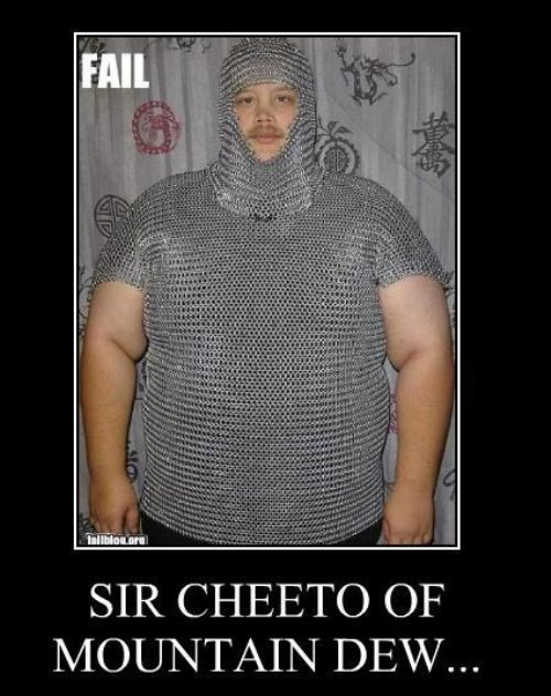 The best defensive structure ever. NOTHING CAN PIERCE HIS WALL! <br /> Conversely, he cannot pierce a girl's wall either.. SIR CHEETO OF