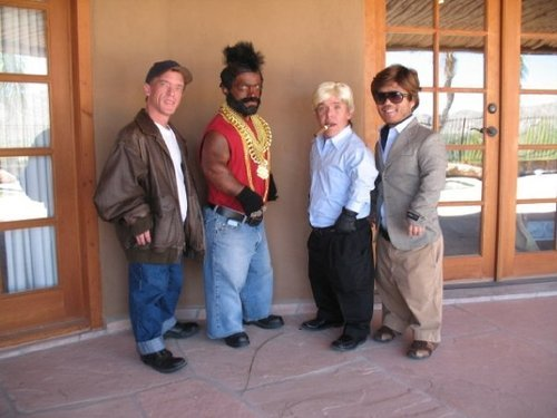 The B Team. half-pint and squat will take left,<br /> srimp and me will go right.. mr. Tiny is only half as awsome as mr.t there for, he is still awsome
