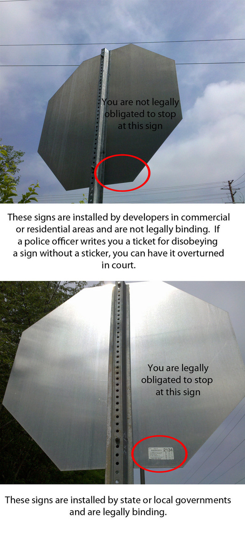 the moar you know!. ive never seen it before but i hope its not a repost.. These signs are installed by developers in commercial or residential areas and are no