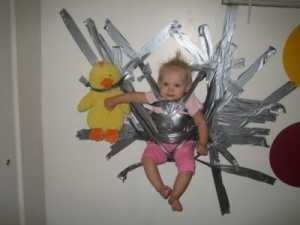 the babysitter. good idea.