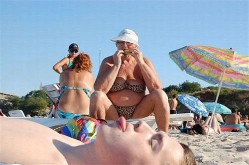 The beach, your doing it wrong. .