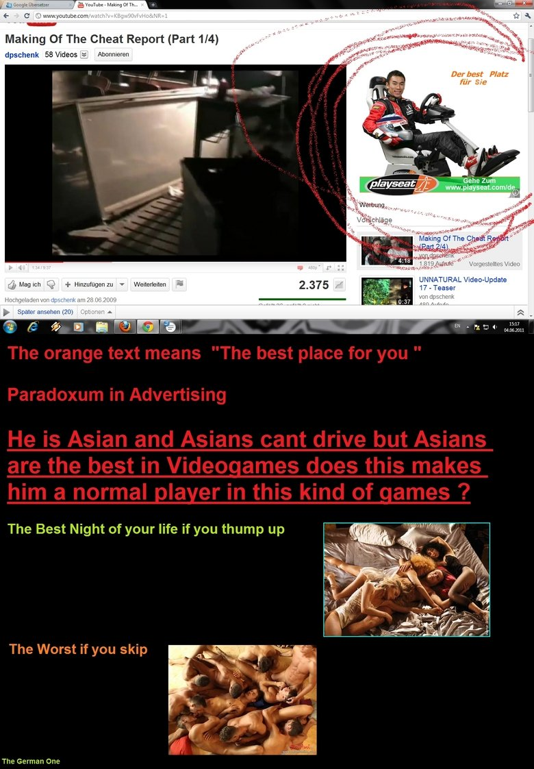 """The Asian Paradoxum. Well give me your opinion in the coments >). Making Of The Cheat Report (Part 1/ 4) d at Videos ta Der but Plat: UNNATURAL M """" 17_ Tease"""