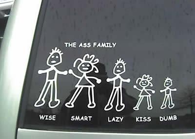 The Ass Family. . THE ASS FAME? WISE an ART LATE KISS DUE?