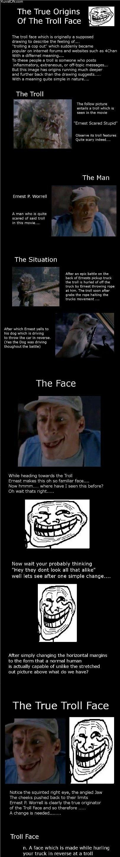 """The trollface origins. U mad life?. The True Origins Of The Troll Face The troll face which is originally a supposed trolling f? we oart"""" which suddenly i_' rec"""
