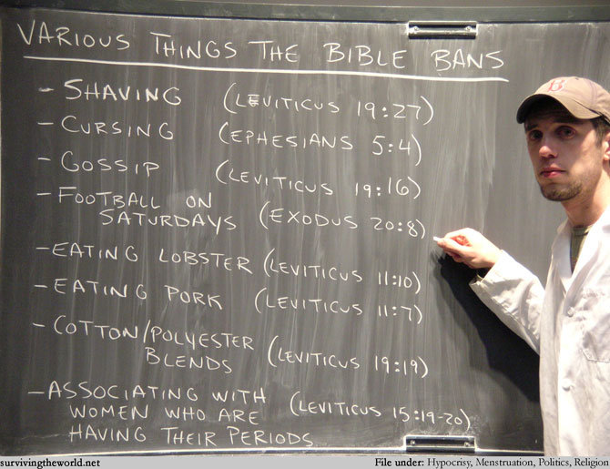 the bible. .