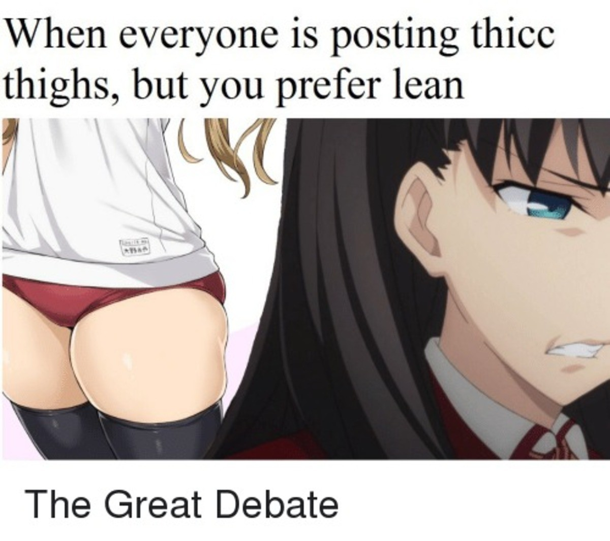 Thicc Or Lean FJ?. join list: ThiccThighs (4599 subs)Mention History join list:. But there are so many little bitches who call things like this thicc.....