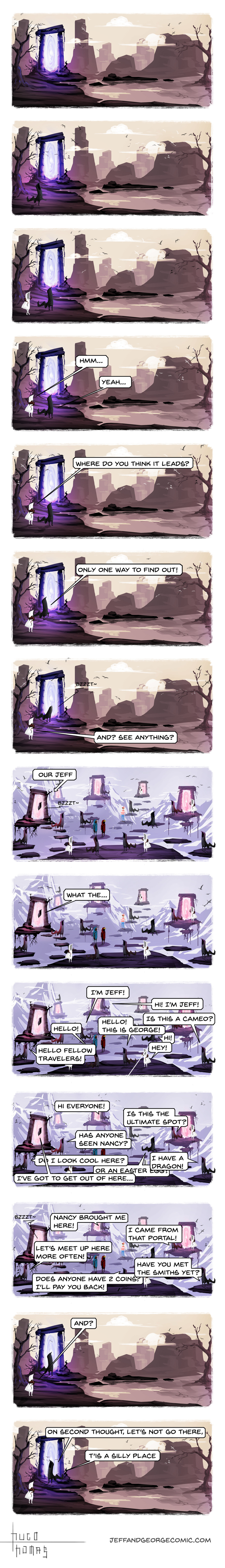 Thinking with portals. It's Friday night! Time for another Jeff and George! I made a patreon, support it at www.patreon.com/jeffandgeorge Previous chapter: If y