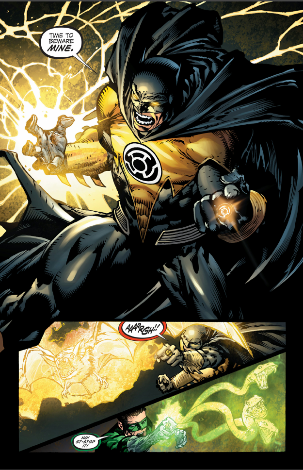 This just happened. Forever evil issue 4. CCI 'l' WIE BEWARE