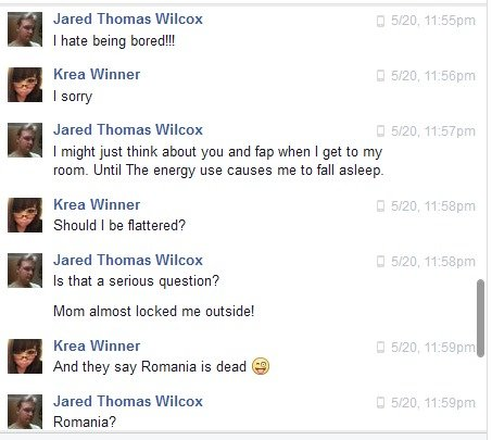 This just happened to me. I just realized that I forgot to remove our names, but I'm lazy, please don't spam our Facebooks.. n Jared Thomas Wilcox I hate being