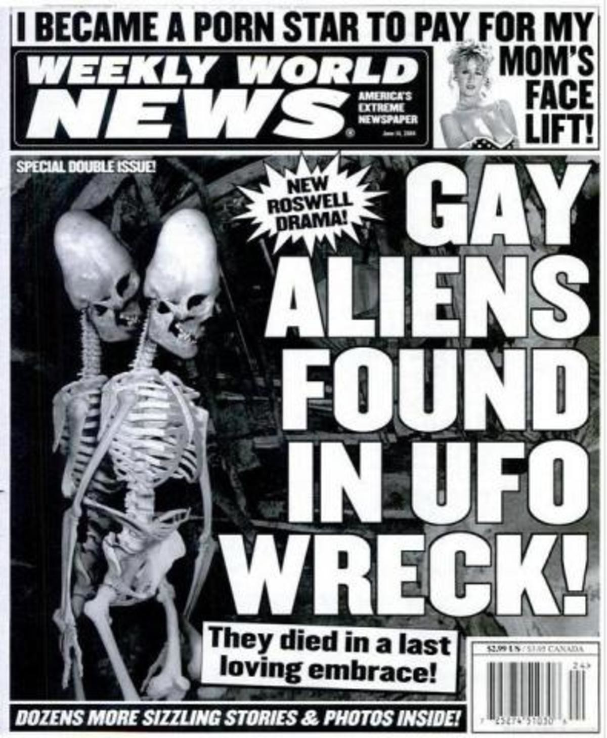 This just in. I kinda really miss the weekly world news. Shoutout to lampmountaindew who made me remember it by mentioning tabloids and their ridiculous stories