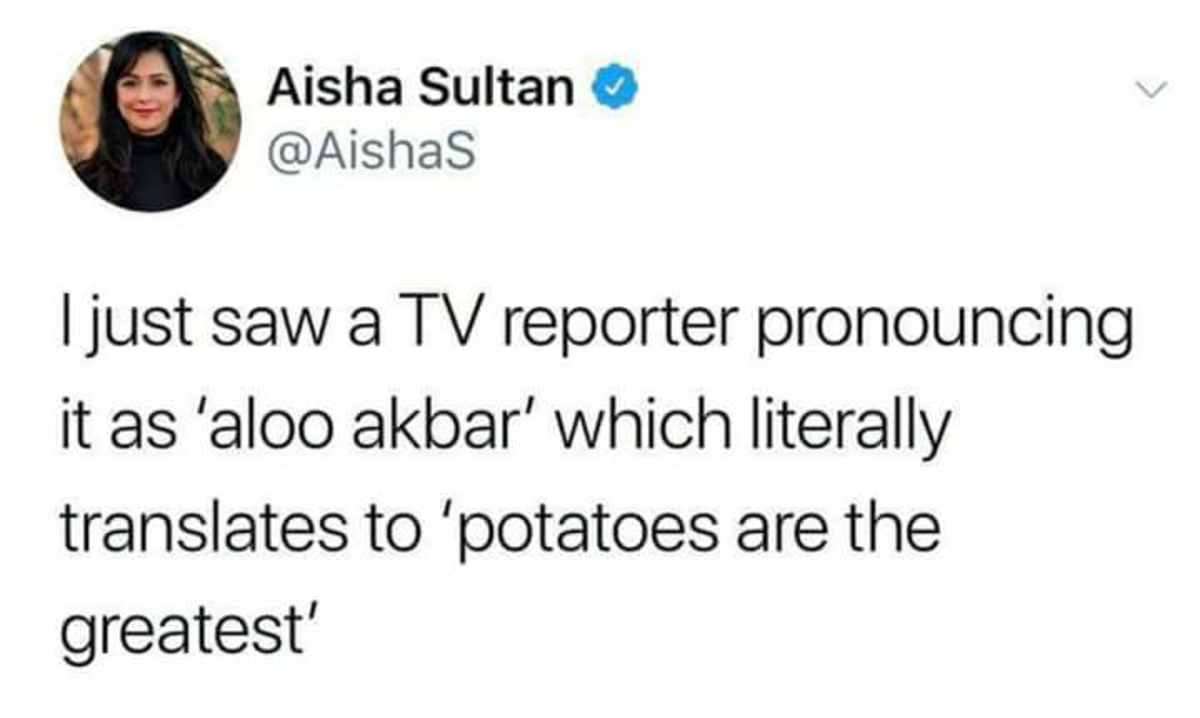 This just in!. .. Didn't know the Irish spoke Arabic.