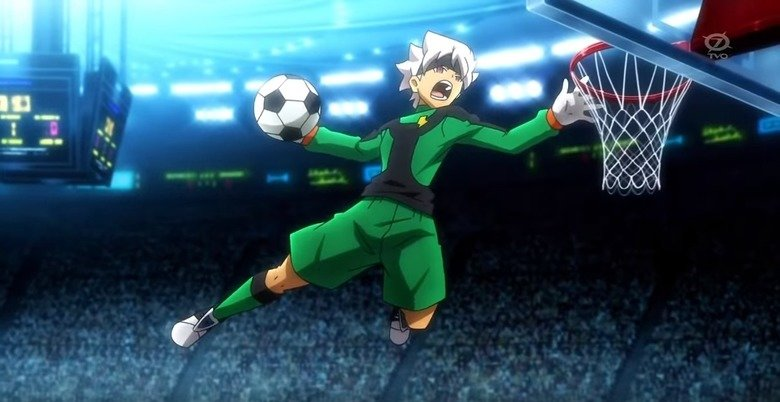 This looks shopped. .. Soccerball. My favorite sport My favorite part is when a player dunks the golf balll from the mid-court into the goal, and scores a home run